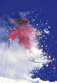 skiing powder in Utah