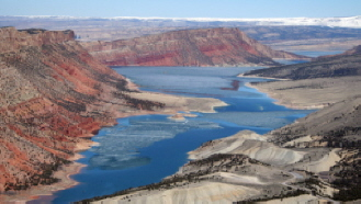 Aerial view of Flaming Gorge